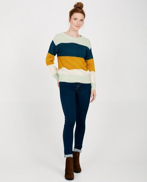 Pull tricoté Sora, rayures - 2 versions - Sora