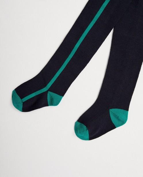 Collant bleu foncé - détails verts - JBC