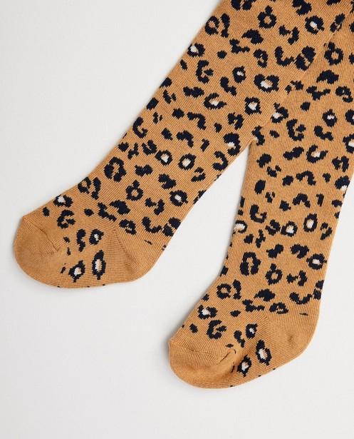 Beige kousenbroek met dierenprint - luipaardvlekken - cudd