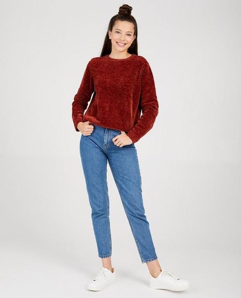 Donkerblauwe gebreide trui - van fleece - Groggy