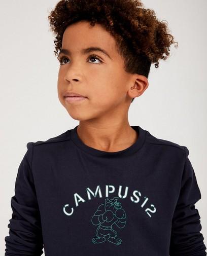 Blauw shirt met print Campus 12