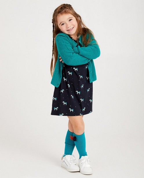 Gilet turquoise - fin tricot - JBC