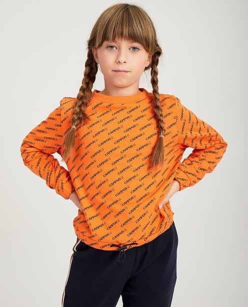 Blauwe broek met strepen Campus 12 - in oranje, grijs en wit - Campus 12