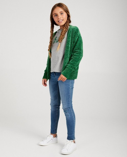 Donkerblauwe cardigan BESTies - fleece-garen - Besties