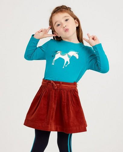 Turquoise shirt met eenhoorn
