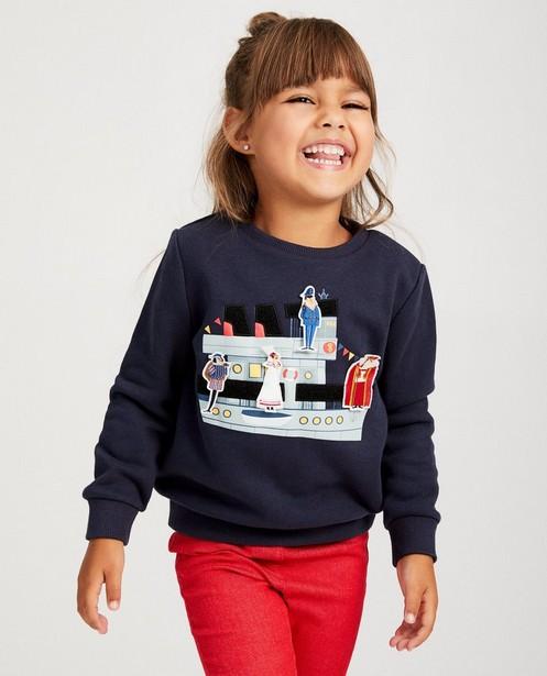 Blauwe unisex sweater Sinterklaas - met print - sylv
