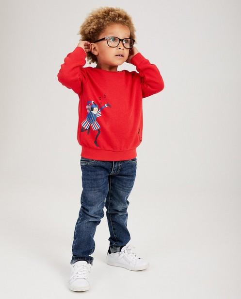 Rode unisex sweater Sinterklaas - met muziekje - sylv