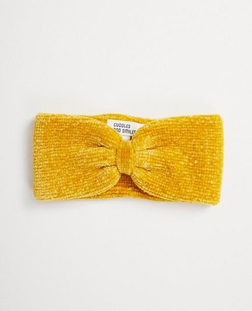 Gele hoofdband - in velours - cudd