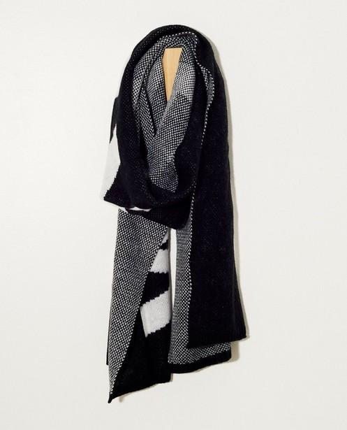 Zwarte sjaal met opschrift Pieces - 'weekend' - JBC