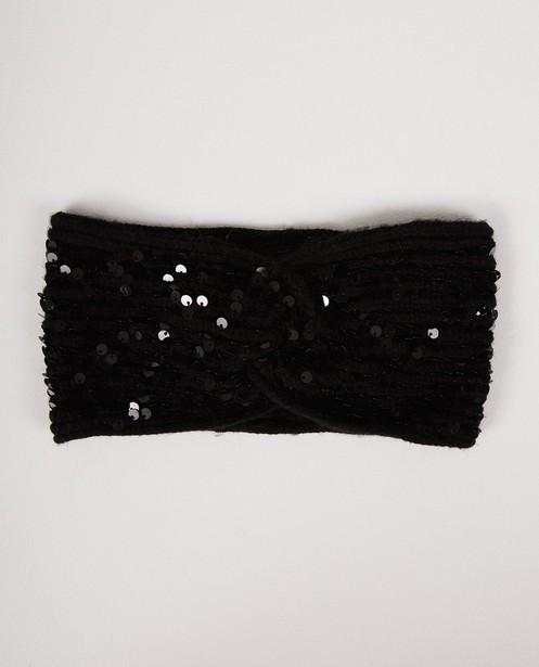 Zwarte glitter hoofdband Pieces - pailletten - Pieces