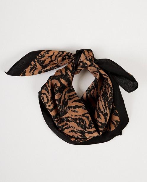 Breigoed - Zwart-bruin sjaaltje Pieces