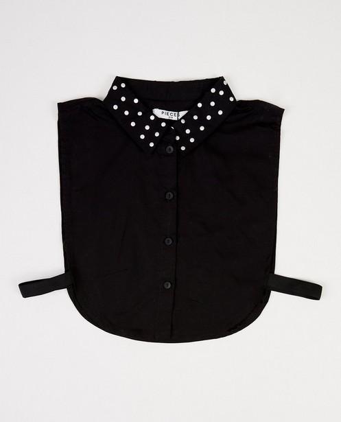 Zwart kraagje met stippen Pieces - op het hemdkraagje - Pieces