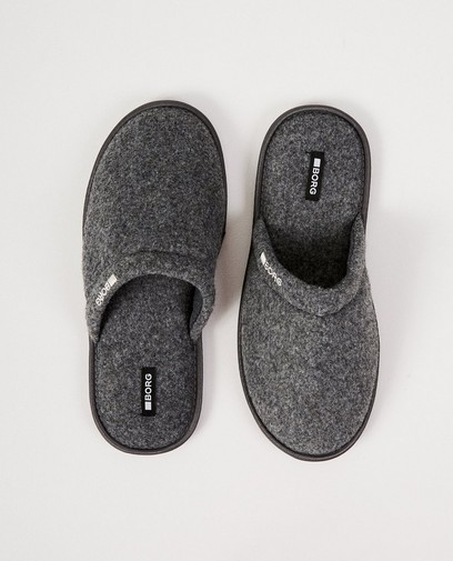 Grijze slippers Borg