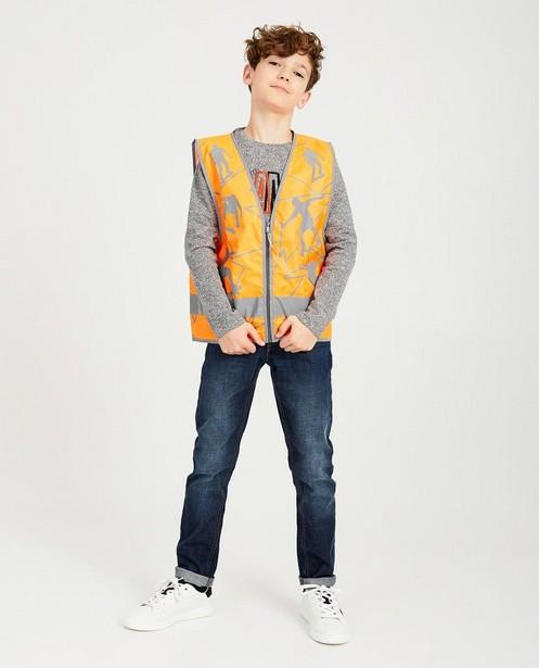 Veste fluo orange à imprimé - réfléchissante - Ketnet