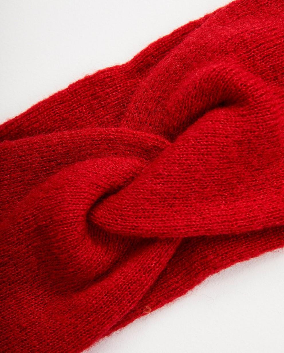 Strickware - Dunkelrot - Rotes Stirnband