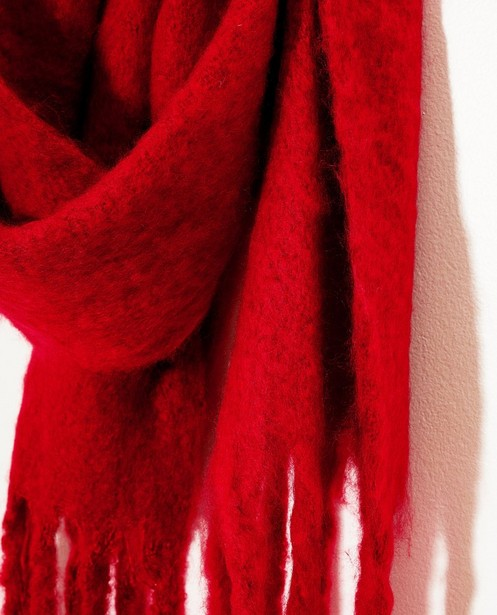 Strickware - Roter Schal