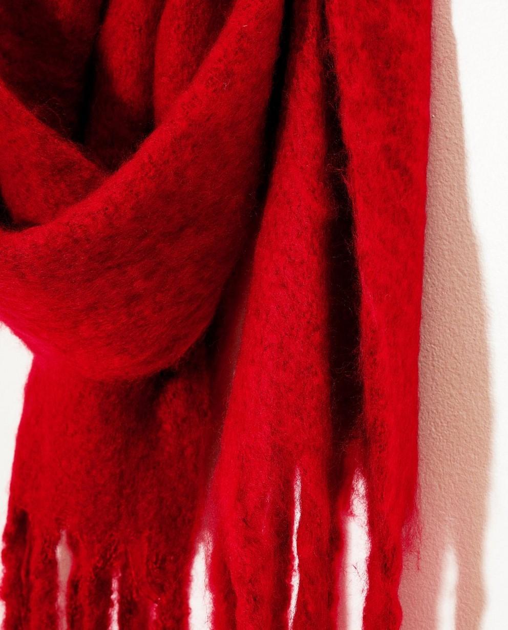 Strickware - Dunkelrot - Roter Schal