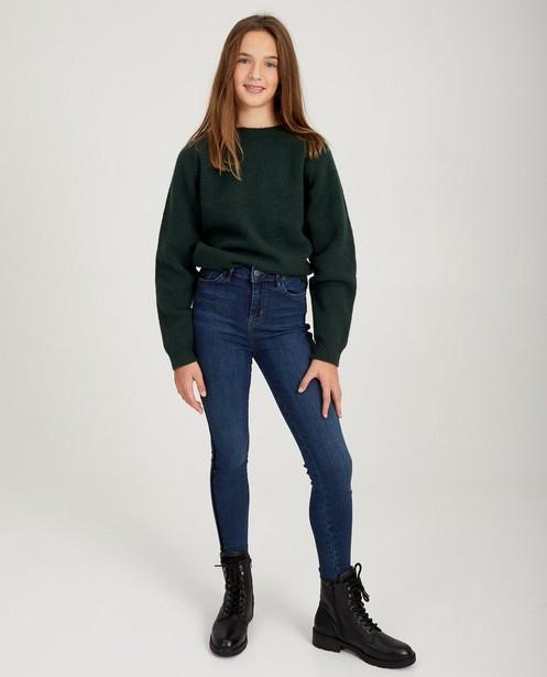 Blauwe jeans met streepdetail - streep - Groggy