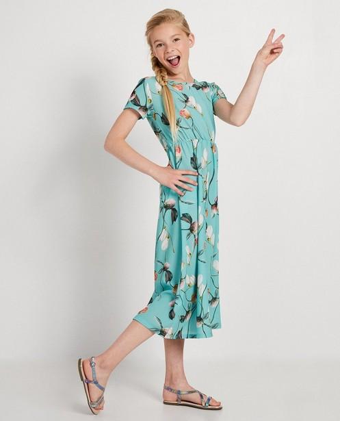 Robe vert bleu Ella Italia - imprimé fleuri - ella