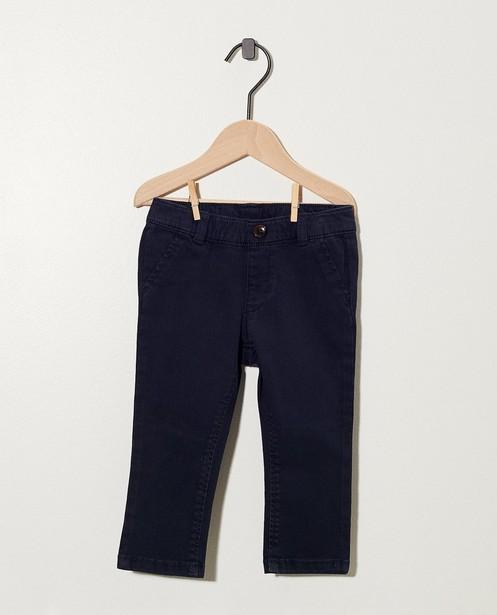 Donkerblauwe broek - van stretch - cudd