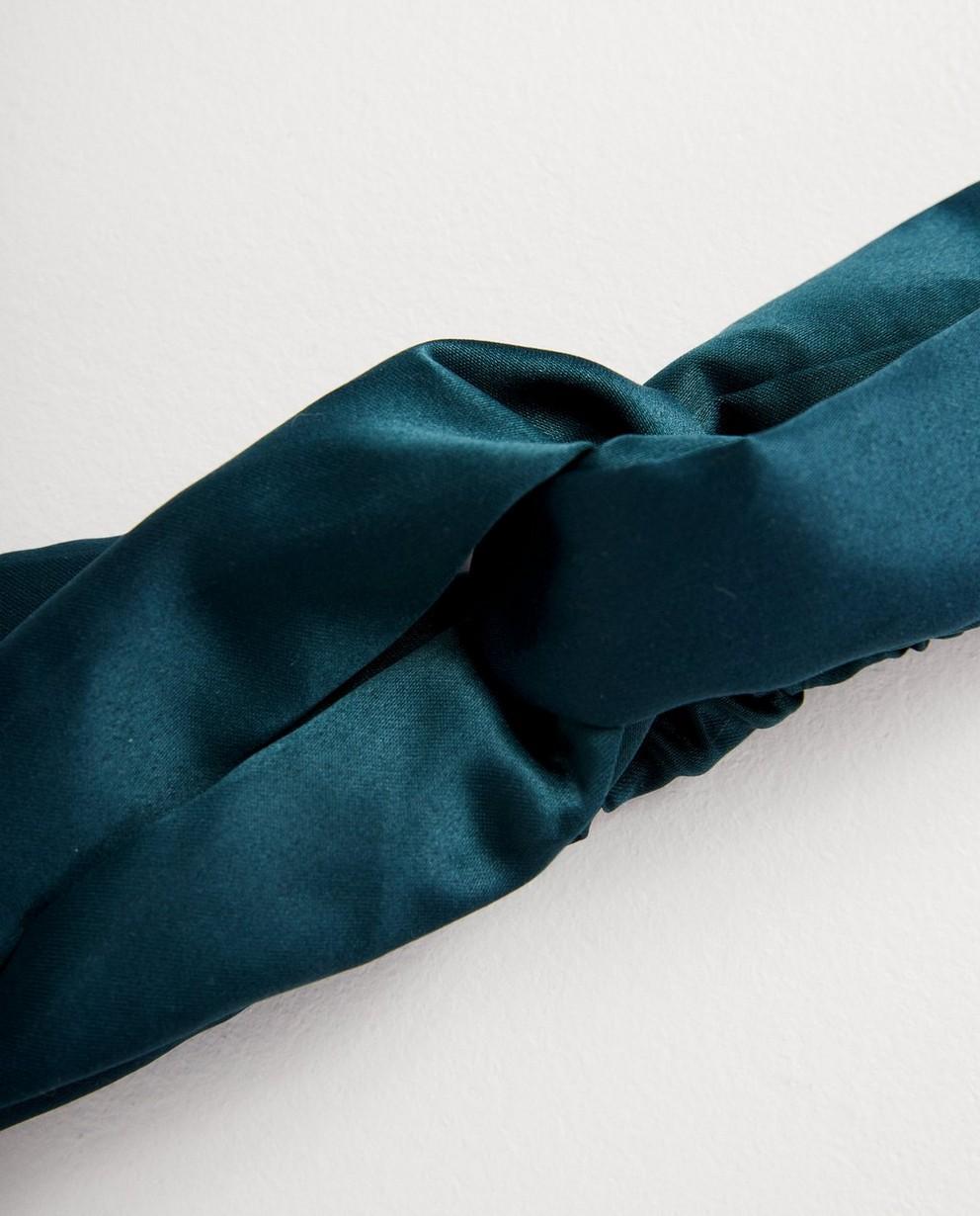 Strickware - Dunkelgrün - Grünes Haarband