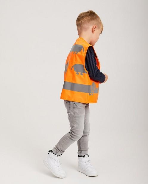 Veste fluo orange à imprimé - imprimé réfléchissant - JBC