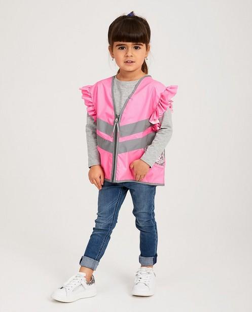 Veste rose fluo à paillettes - imprimé réfléchissant - JBC