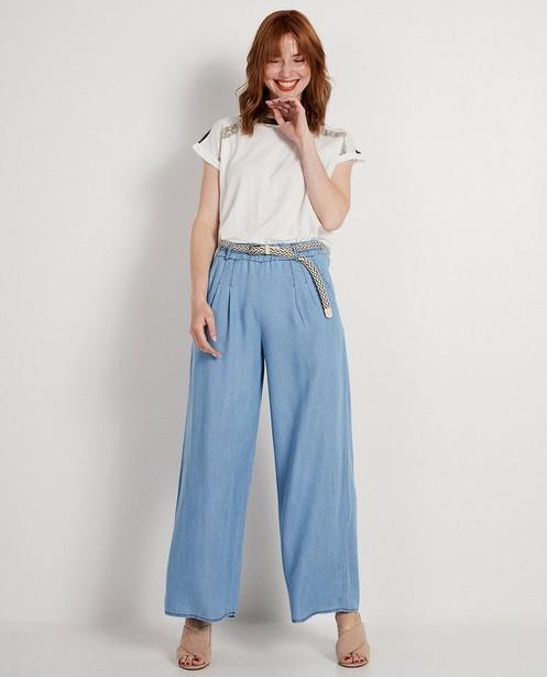 Lichtblauwe broek Ella Italia - van lyocell - ella