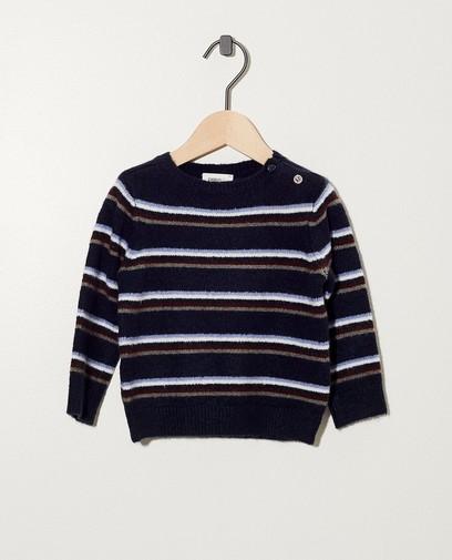 Donkerblauwe trui met strepen
