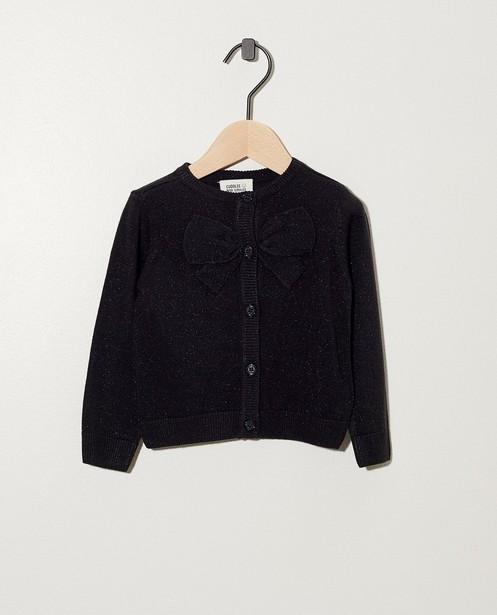 Schwarze Jacke mit Schleife - und Metallfaden - cudd