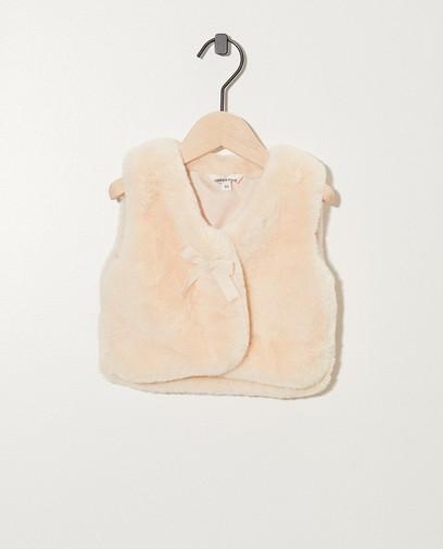 Roze vest van faux fur