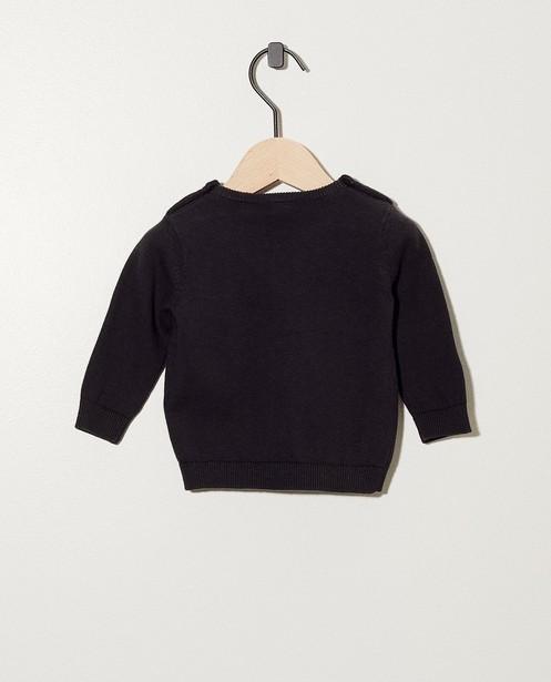 Truien - Donkergrijze trui met opschrift