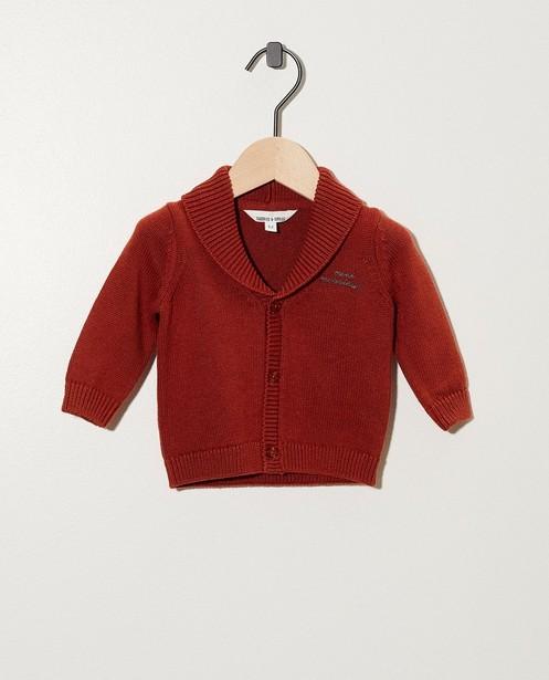 Rostbraune Jacke - aus Feinstrick - Newborn