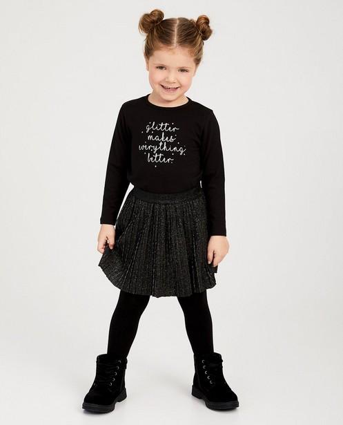 Zwarte rok van plissé BESTies - met metaaldraad - Besties