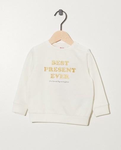 Weißes Sweatshirt mit Print
