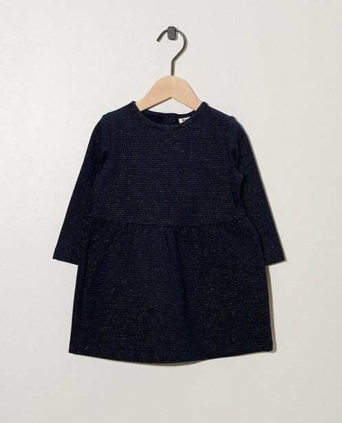 Donkerblauwe jurk BESTies - met metaaldraad - Besties