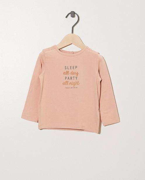 T-shirt gris foncé à inscription - à paillettes - cudd