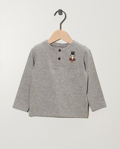 Grijs shirt met notenkraker-print