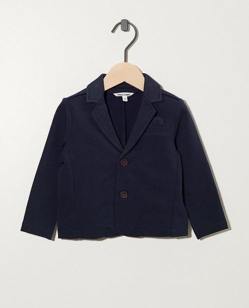Blauw vestje van biokatoen - met pochet - cudd