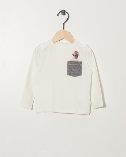 Wit shirt van biokatoen