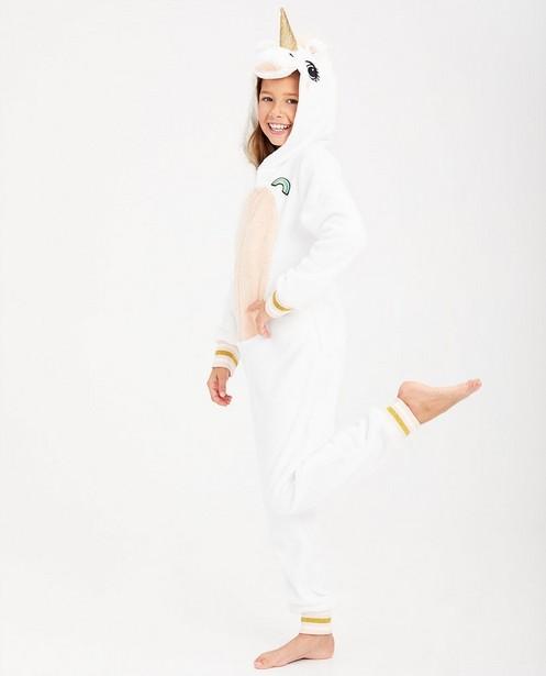Witte eenhoorn-onesie - van fleece - JBC
