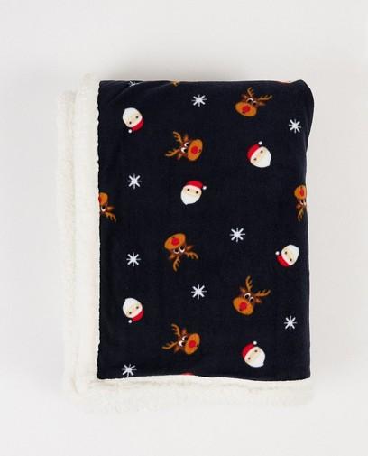 Donkerblauw deken van fleece