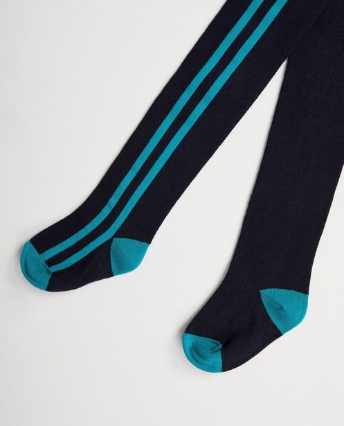 Blauwe kousenbroek met strepen - in turquoise - JBC