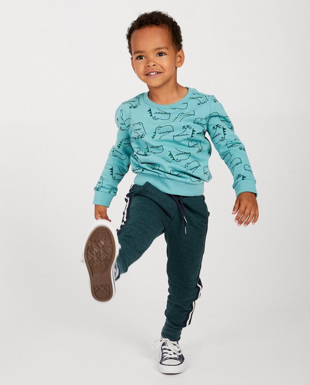 Blauwe sweater met print BESTies - allover - Besties
