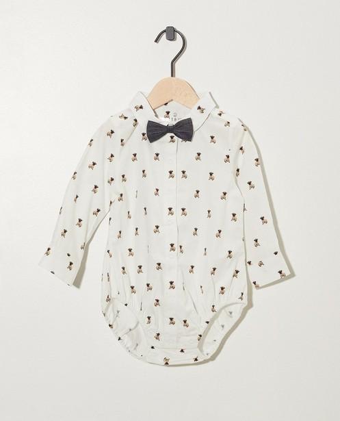 Witte hemdbody met strikje - hemd - Newborn