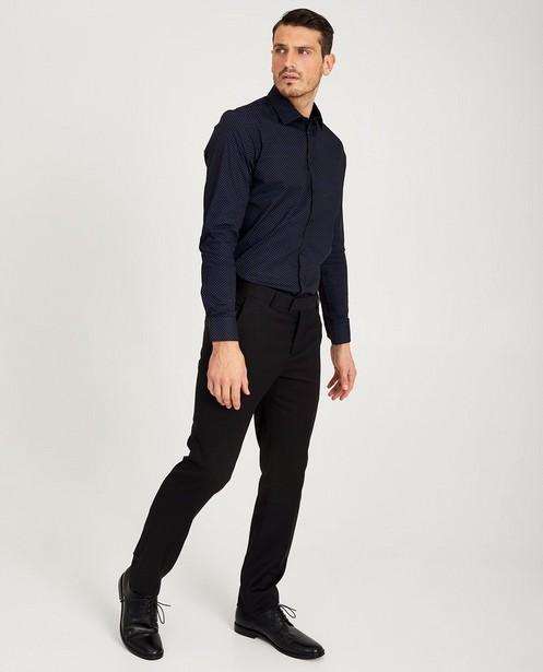 Wit hemd met sterretjesprint - in zwart - Iveo