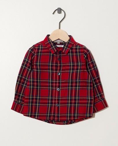 Rood hemd met ruitpatroon
