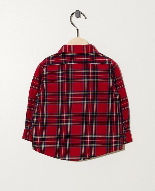 Chemises - Chemise rouge à carreaux