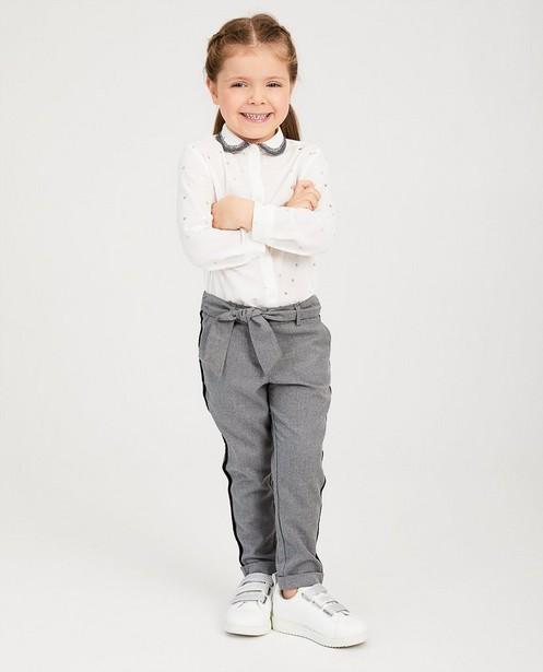 Pantalon gris, rayure noire - en velours - Milla Star