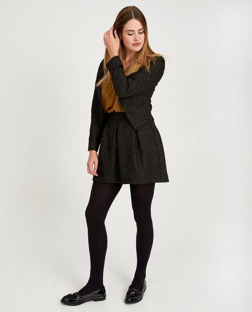 Zwarte rok met metaaldraad Sora - goudkleurige draad - Sora